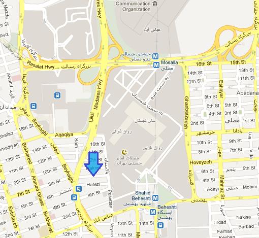 موقعیت داده کاوان در خیابان بهشتی